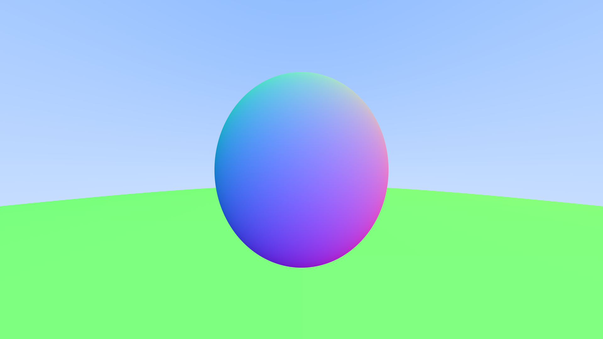 Spheres shaded by their normals with antialiasing