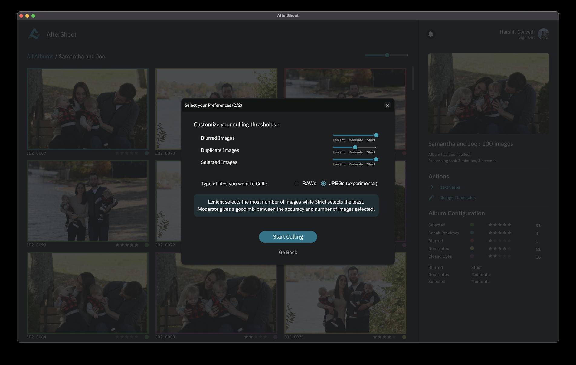 Screenshot of AfterShoot Filter screen