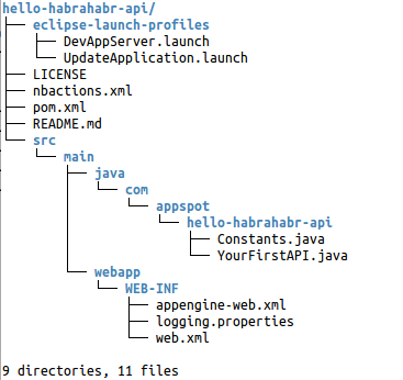 Google Cloud Endpoints on Java: Manual. p.1