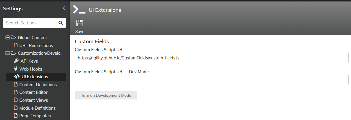 custom field input form customization