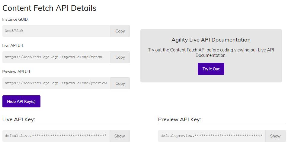 Content Fetch API Details