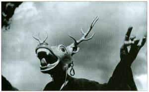 Fosco Maraini's 1948 photo of a masked dancer, Chumbi Valley, Tibet