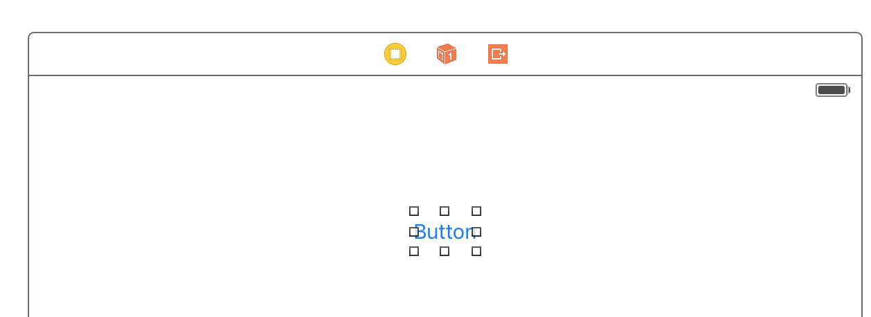 Add a control (e.g. UIButton) onto storyboard