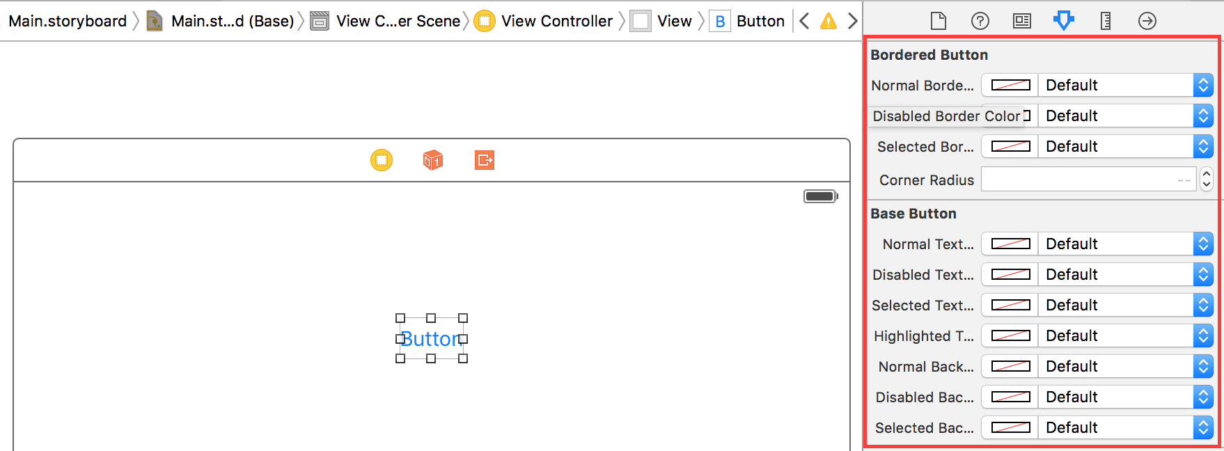 Now you're able to customize the button from IB directly