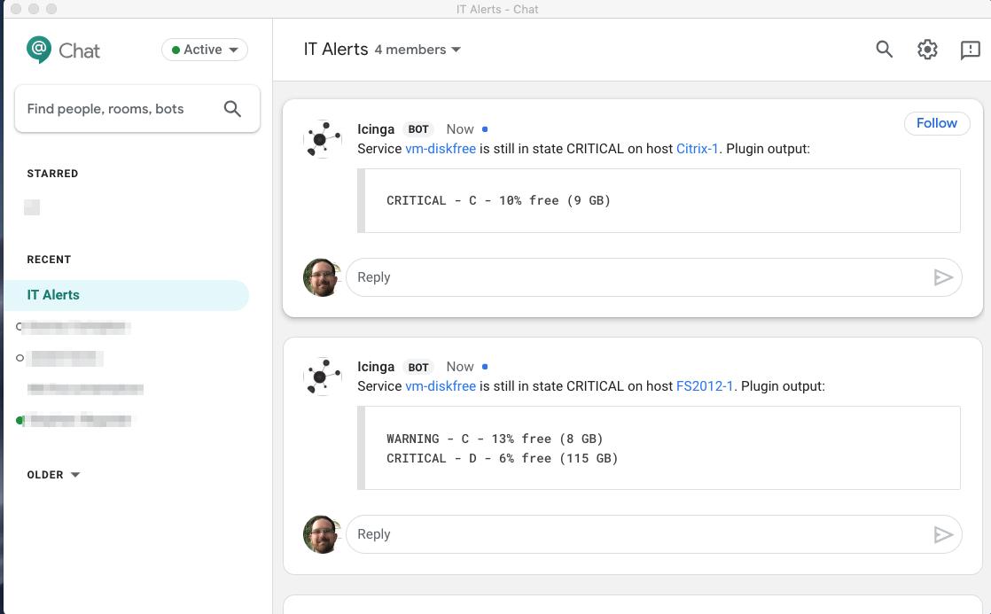icinga2-slack-notifications (for Google Chat) :: Icinga Exchange