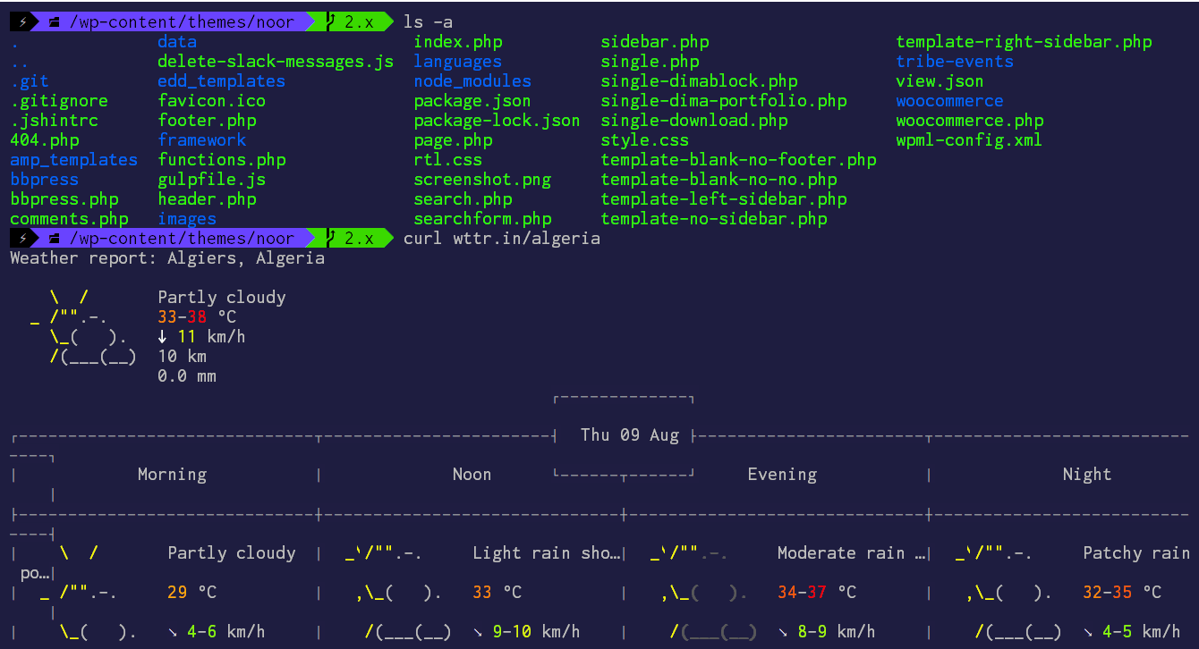 Shades-of-Purple Theme for Cygwin