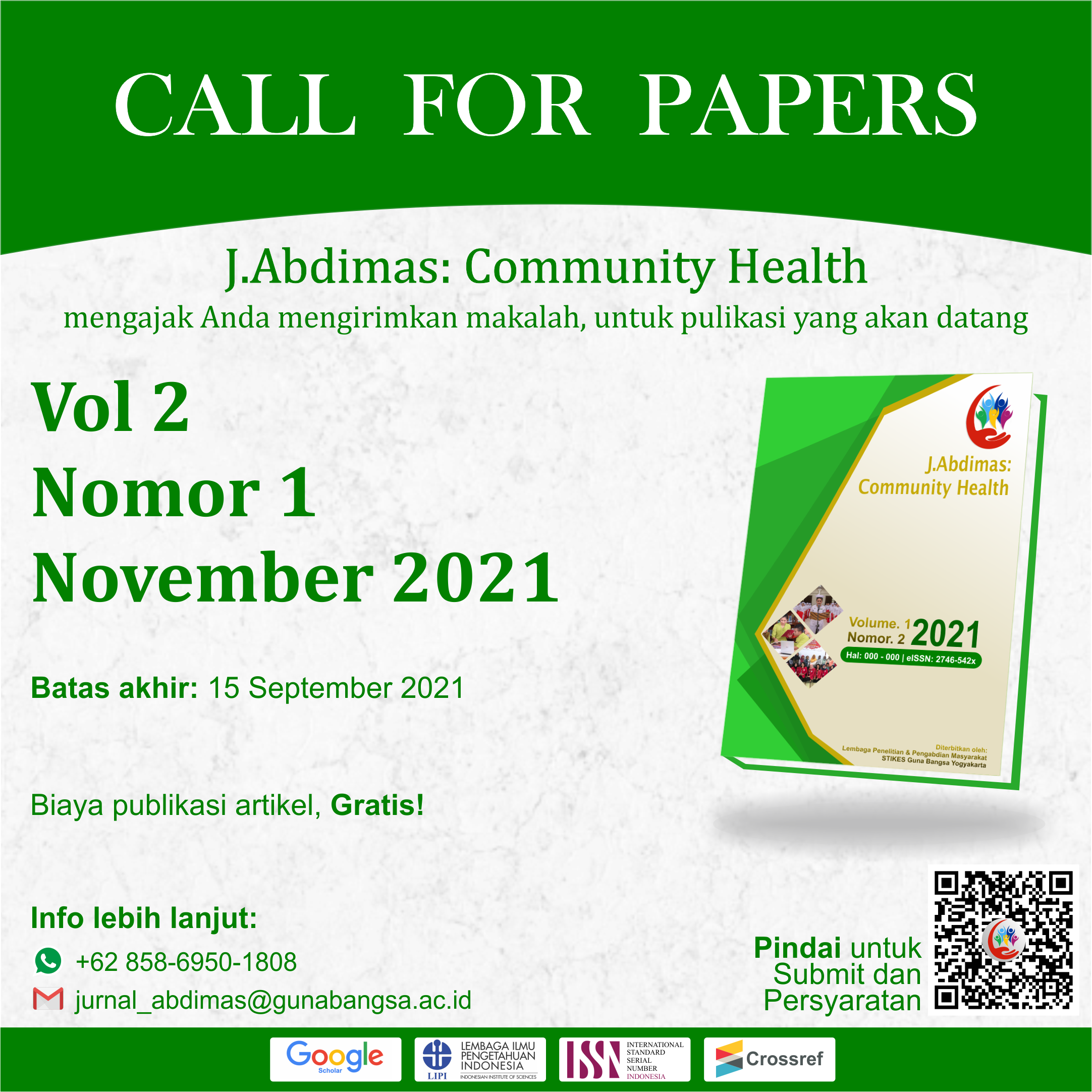 Call for Papers JACH November 2021