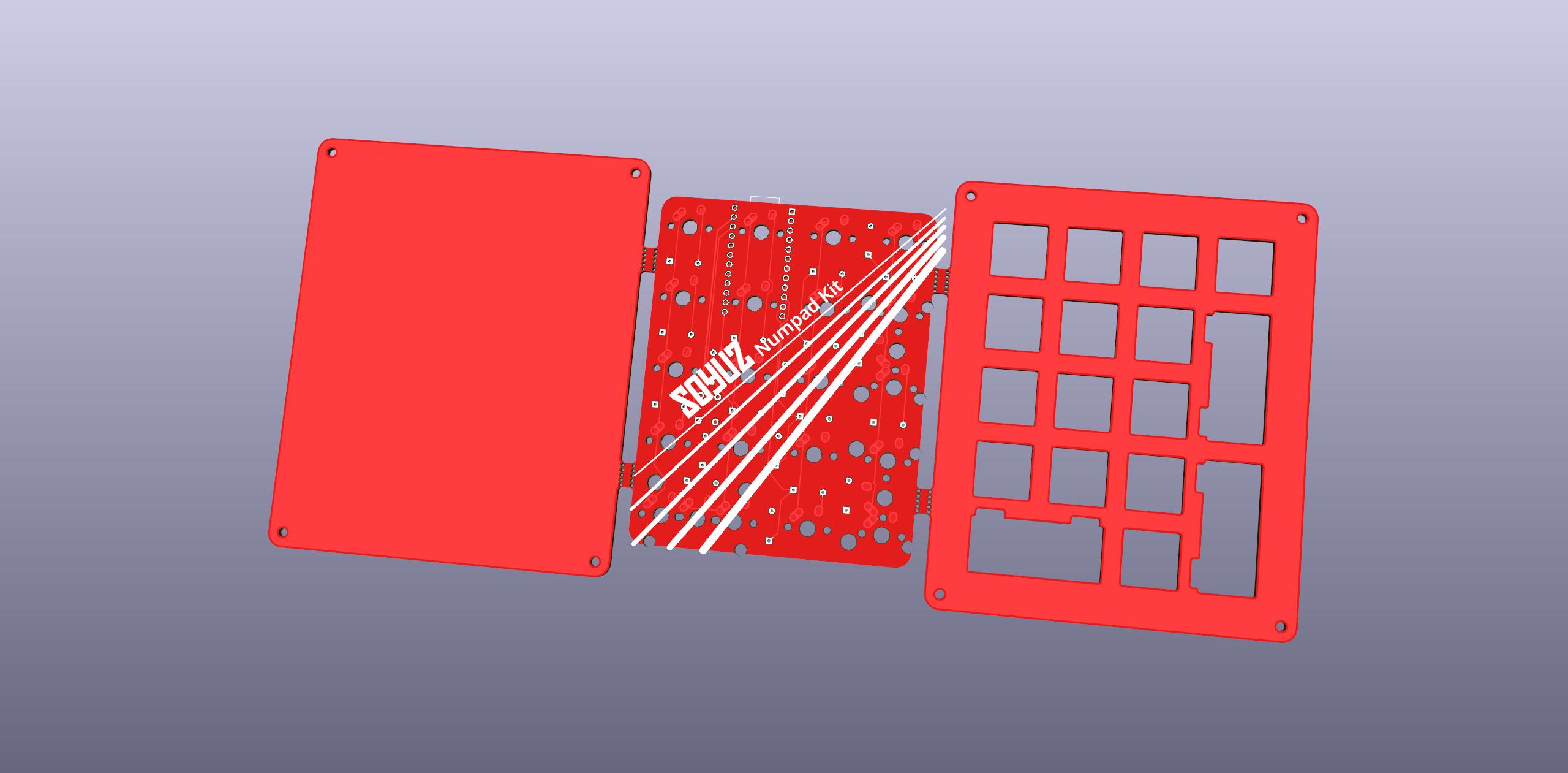 PCB render