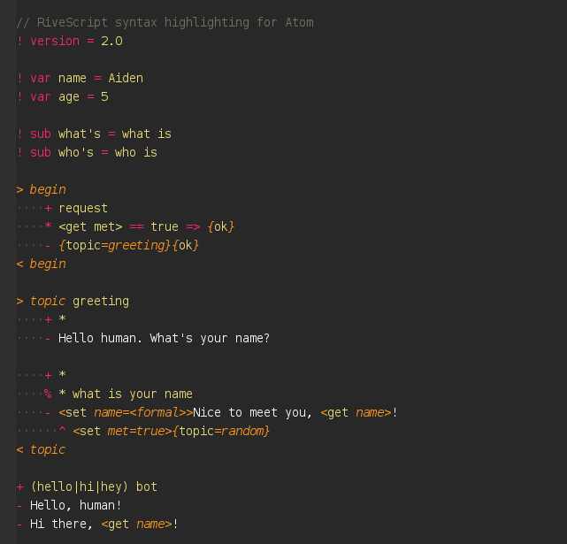 Atom Highlighting