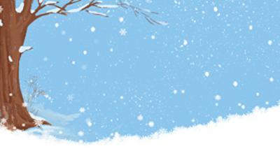 冬天冬季冰雪PPT背景图片