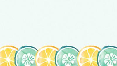 水彩橙子柠檬切片PT背景