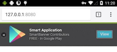 smartbanner.js Android screenshot