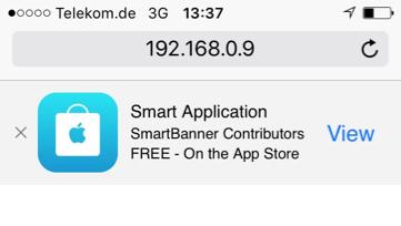 smartbanner.js iOS screenshot