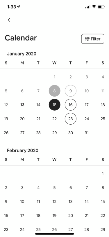 Experience Host Calendar Management