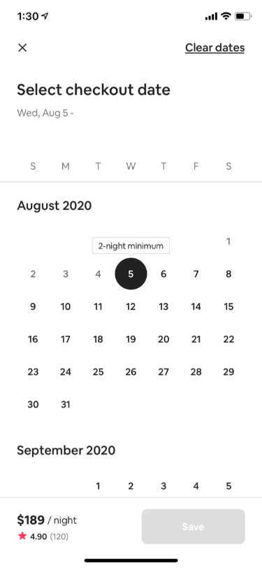 Stay Availability Calendar
