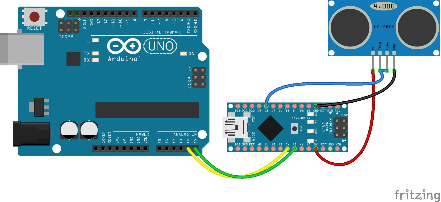 Circuit for I2C backpack
