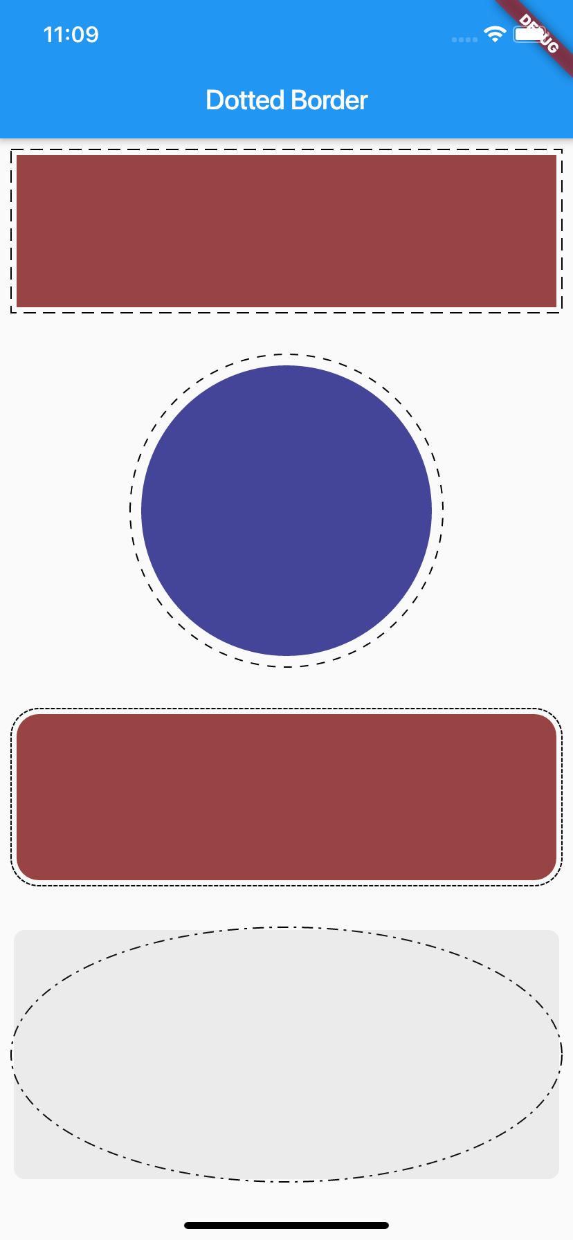 Flutter dotted border image