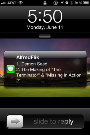 Alfred Text Message