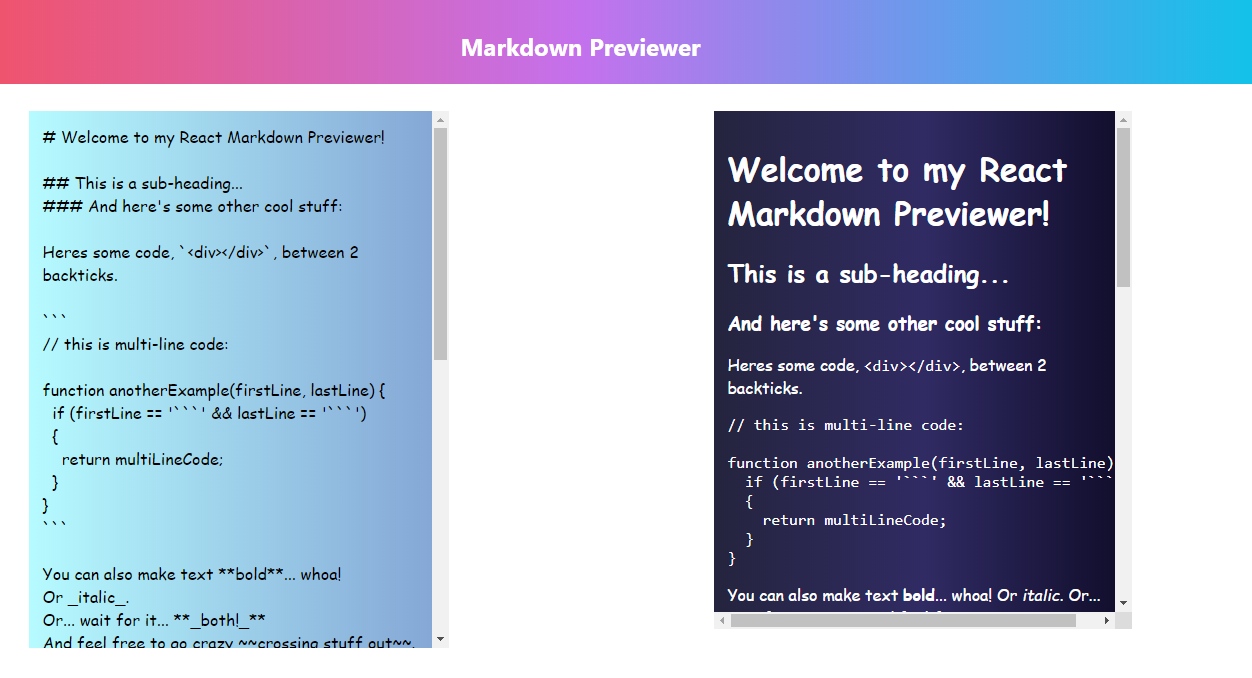 MarkdownPreviewer