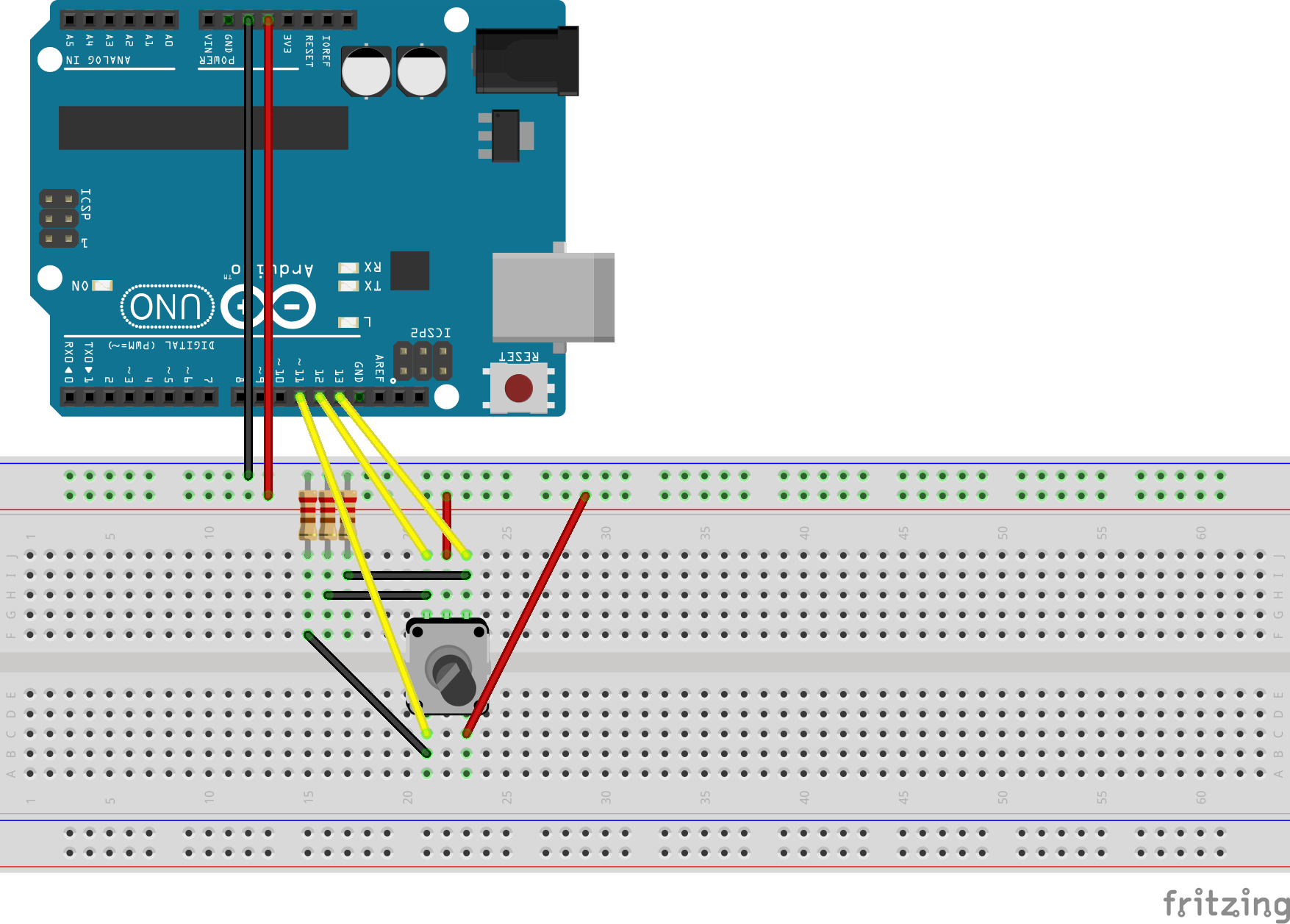 Github Akinnee Johnny Five Rotary Encoder Example Of How To Use A Build Circuit With An Arduino Diagram
