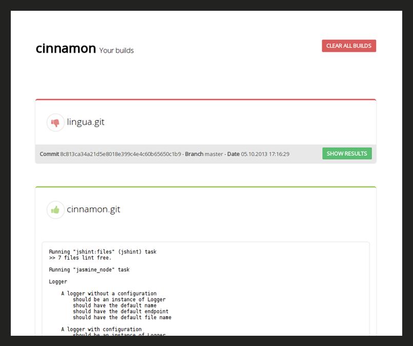 The cinnamon UI