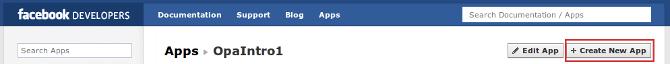 Facebook Developer new app