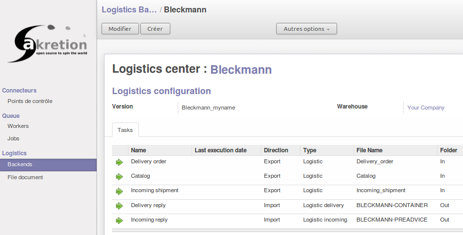 Logistics Backend and Tasks