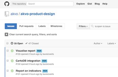 akvo product design github repo httpsgithubcomakvoakvo product designissues