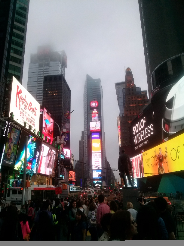 Ominous Times Square.