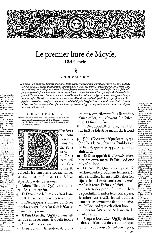 LaTeX facsimile of a Bible de Genève, 1564.
