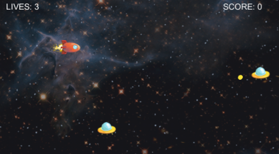Screenshot of the 2D Space Shooter