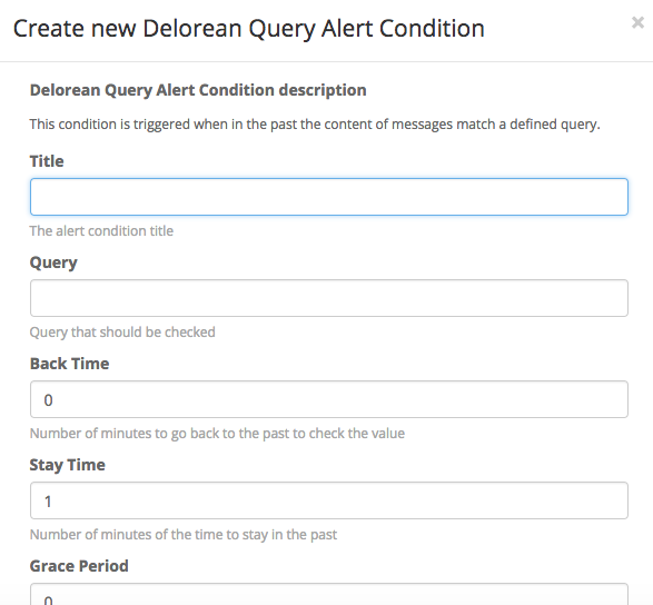 Alert Condition Fields