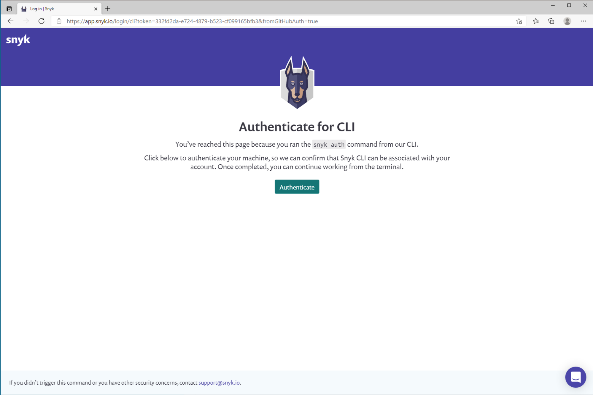 Authenticate on webseite