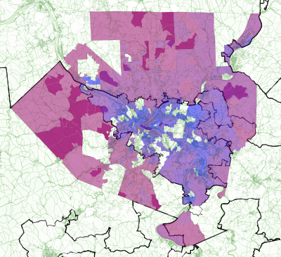 Image of the 2012 House election in Allegheny County by precinct