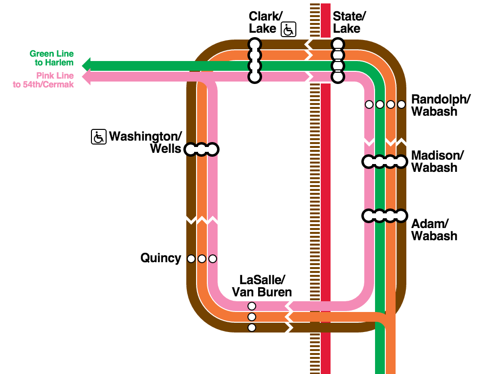 github aledista cta loop map pure css chicago transit map