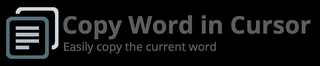 Copy Word in Cursor Logo