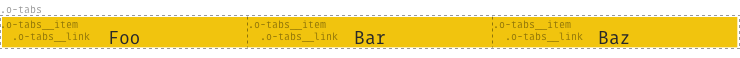 Example of o-tabs