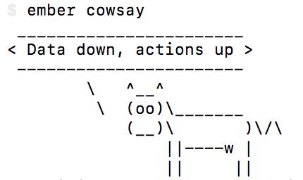 ember-cowsay terminal screenshot