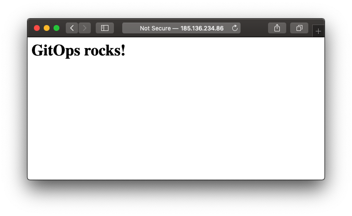 """GitOps Rocks"" screenshot with white background"