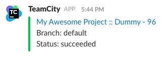 TeamCity Slack plugin