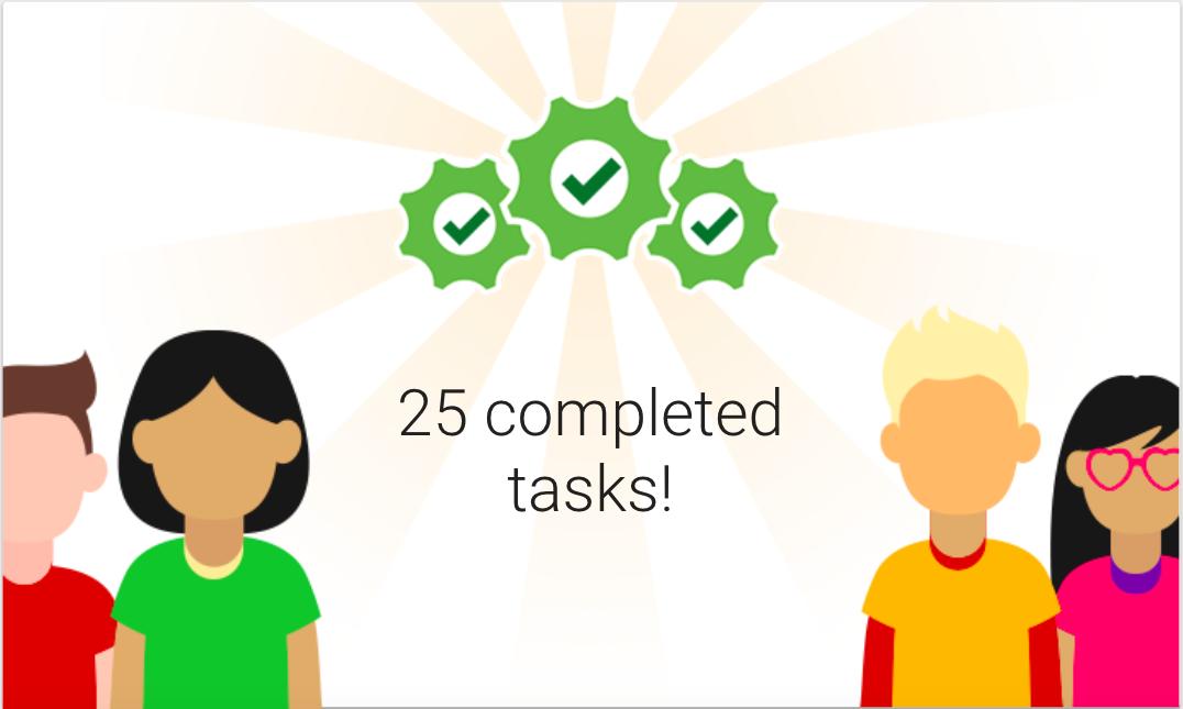 Image of completed tasks