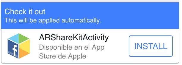 ARFacebookShareKitActivity Screenshot 3