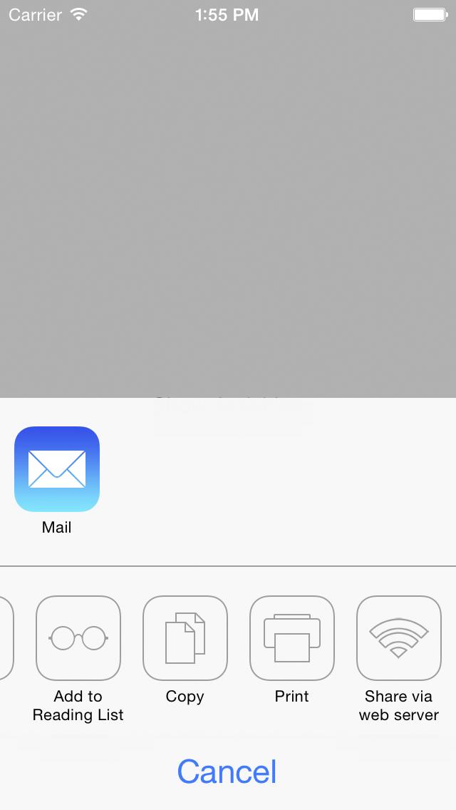 ARWebServerActivity screenshot
