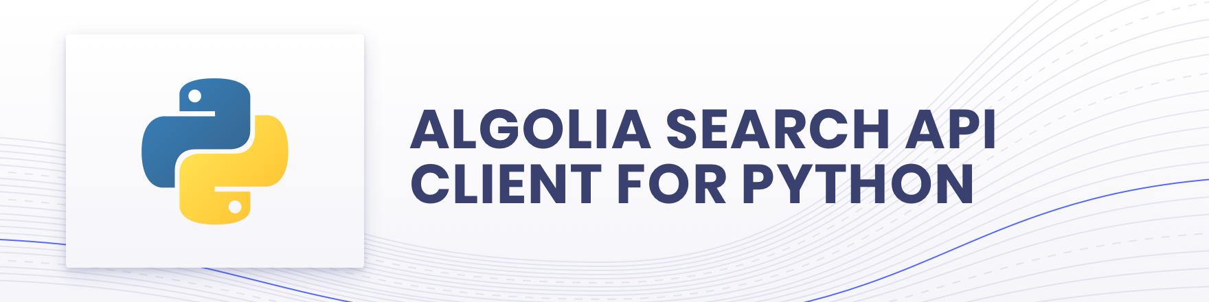 Algolia for Python