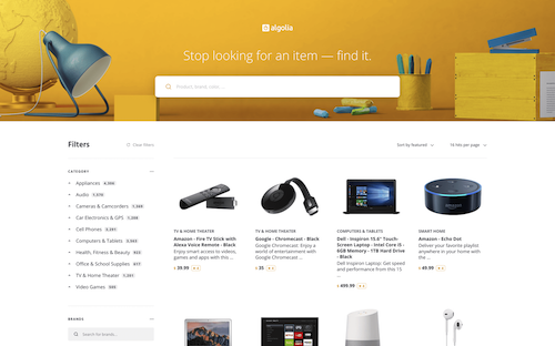 E-commerce demo preview