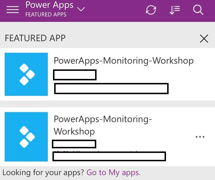 PowerApps.FeaturedAppAndHeroApp Monitoring the Power Platform: Canvas Driven Apps   Auditing and Activity Logs Part 1