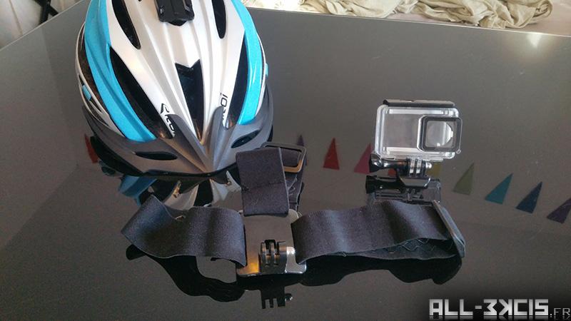Fixer une caméra sportive sur un casque de vélo - Materiel (casque, support caméra)