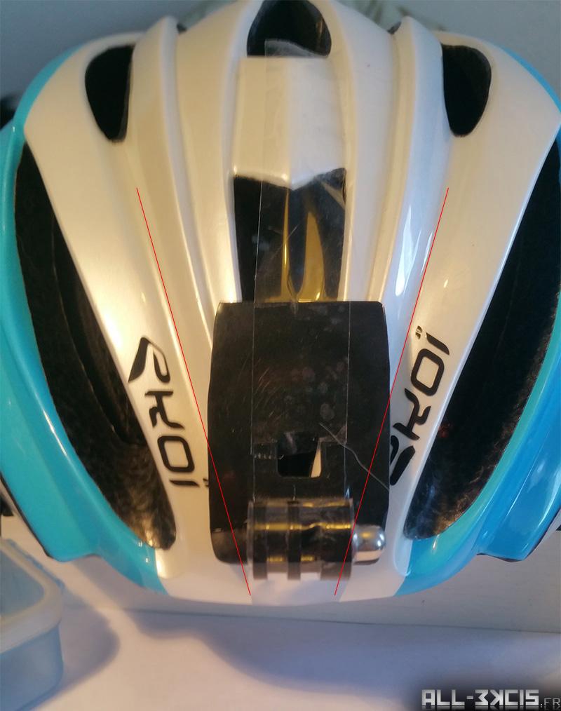 Fixer une caméra sportive sur un casque de vélo - étape 2 - Préparation du support