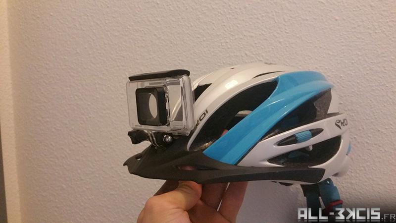 Fixer une caméra sportive sur un casque de vélo - étape 6 - Test final avant collage