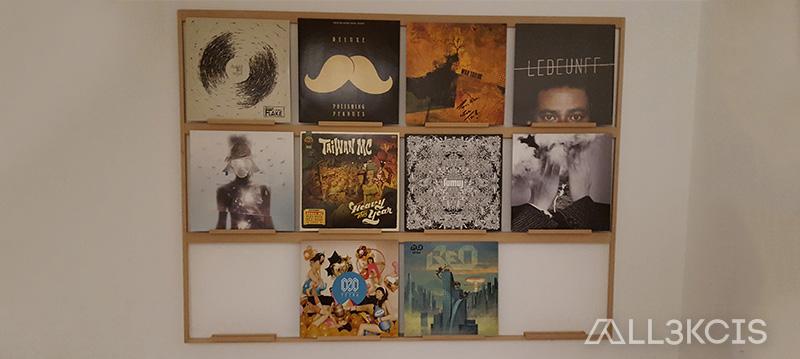 Mur de vinyles